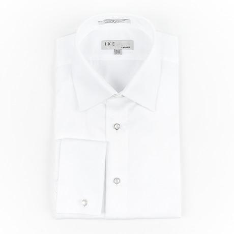 Pique Laydown shirt // White