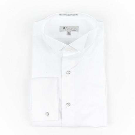 Pique Wing Collar Shirt // White