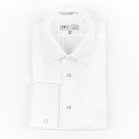 Horizontale Streep Laydown shirt // White