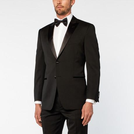 Peak Slim Fit Geneste Tuxedo // Black
