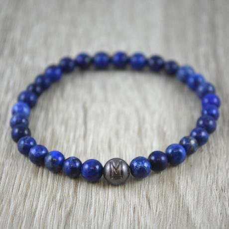Silver Bead armband // Lapis Lazuli