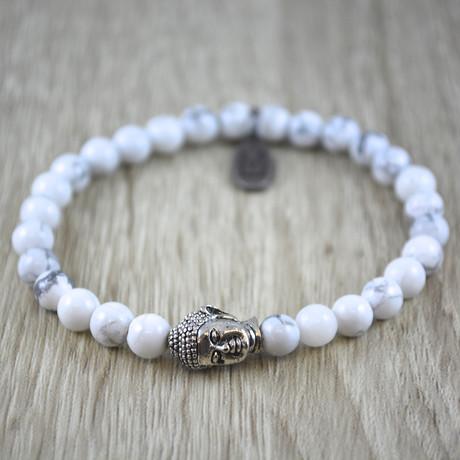 Buddha Bracelet // White Howliet