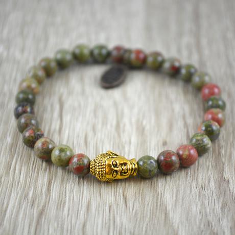 Buddha Bracelet // Unakite