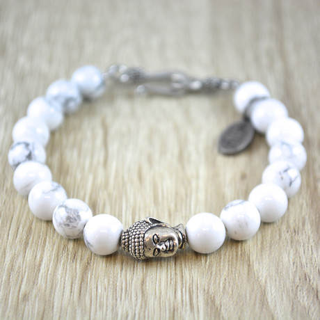 Buddha Bracelet // Sneeuwvlok Obsidiaan