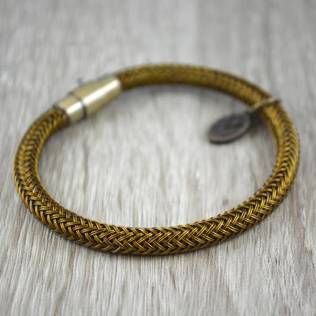 gevlochten stalen armband // Gold