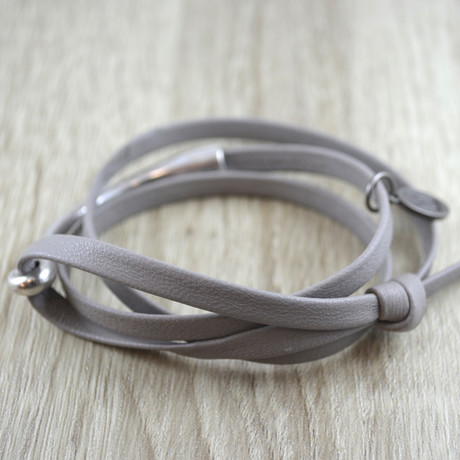Triple Wrap + Silver Hook // Grey
