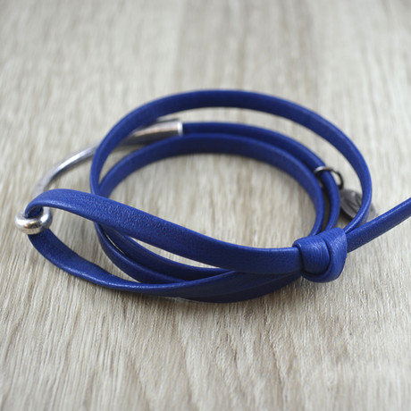 Triple Wrap + Silver Hook // Royal Blue