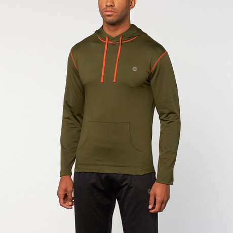 Element hoodietrui // Sergeant Groen + Rood Oranje