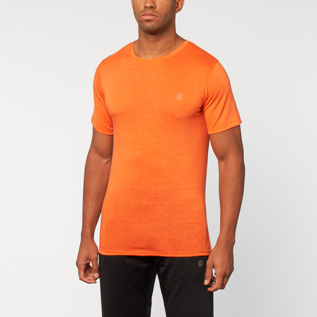 Back To Basics Tee // Heather Red Orange