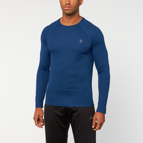 Actieve Mesh lange mouwen Top // Estate Blue