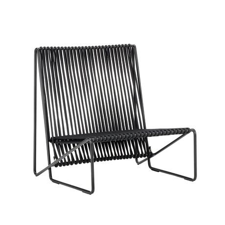 Rada Lounge Chair // Black + Black Rope