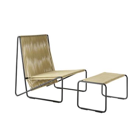 Rada Lounge Chair // Black + Hemp Rope