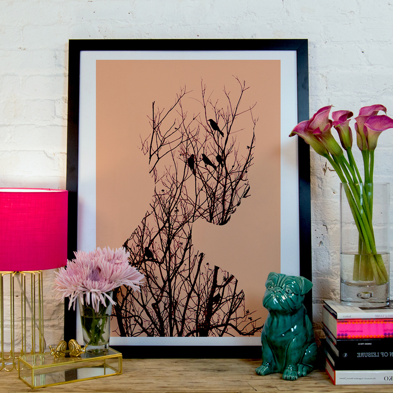 Birds Black Framed Andreas Lie Touch Of Modern