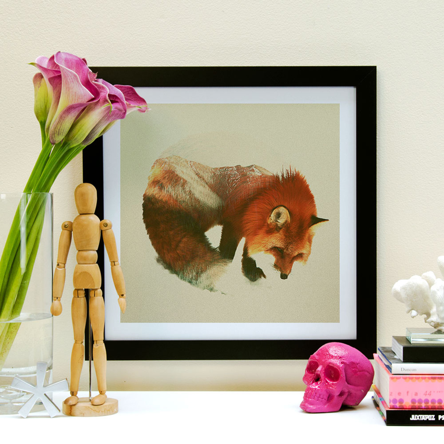 Snow Fox Black Framed Andreas Lie Touch Of Modern