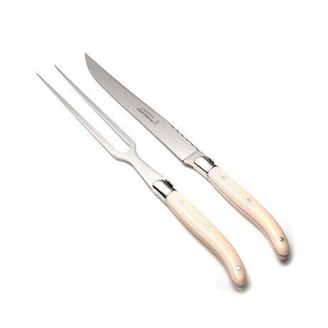 Laguiole Carving Set // Ivoor