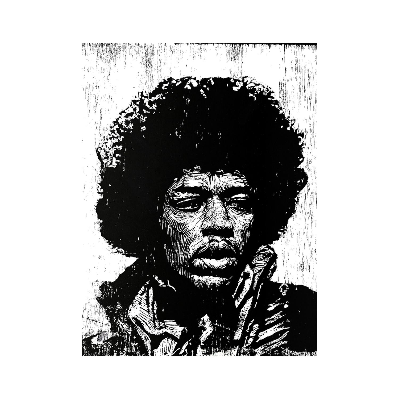Jimi Hendrix Print 12L X