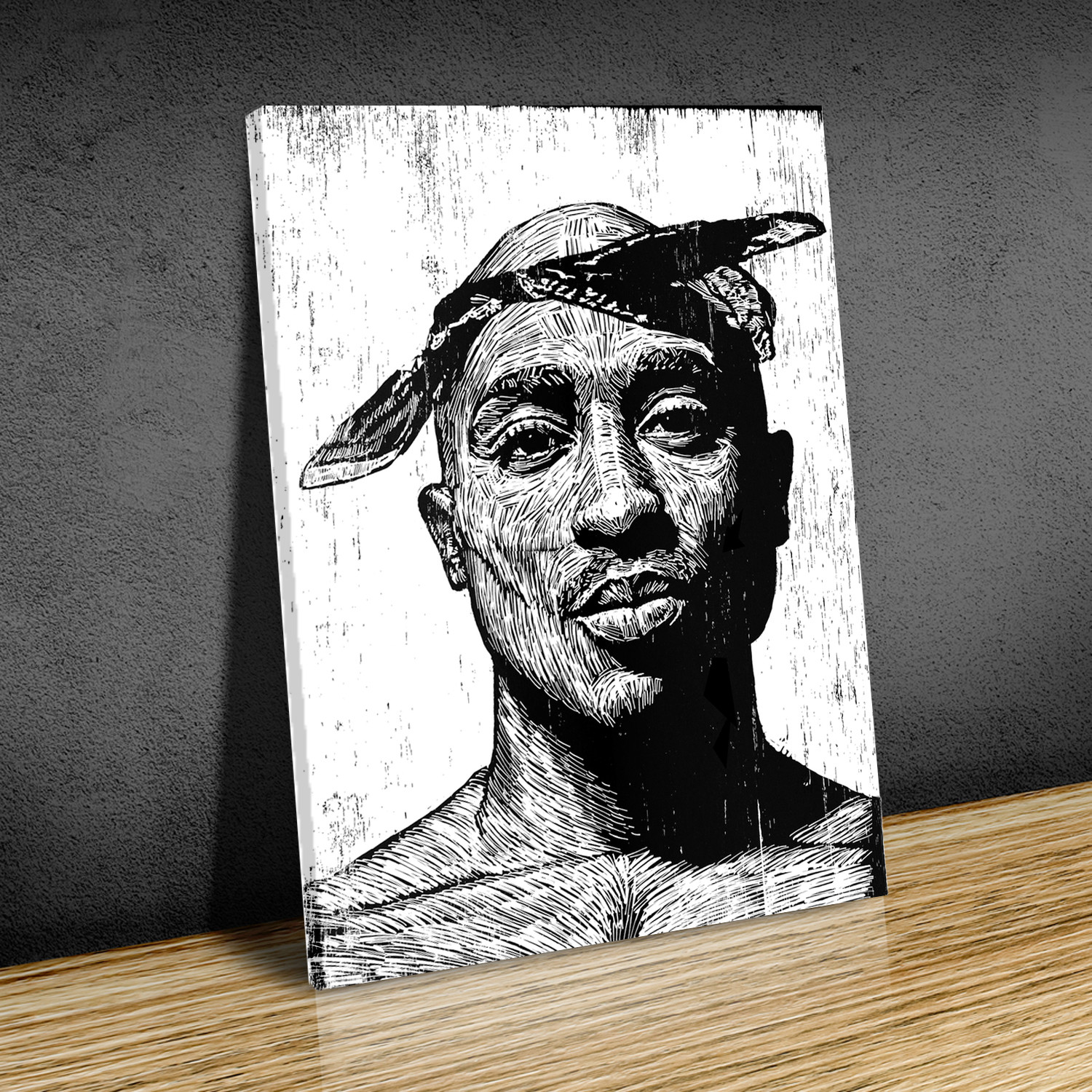 Tupac shakur canvas