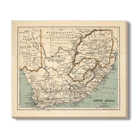 Kaart van Zuid-Afrika // 1899