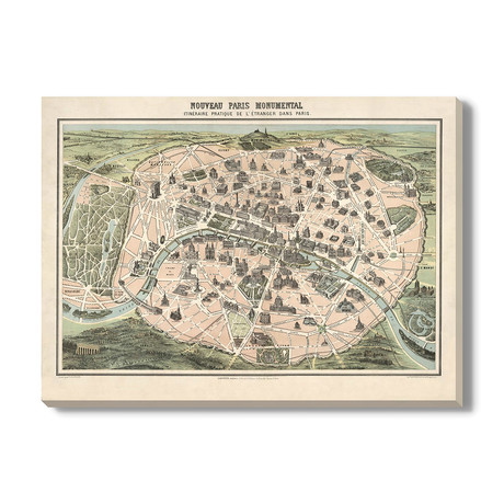 Kaart van Parijs // 1878