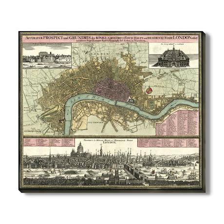 Kaart van Londen // 1740