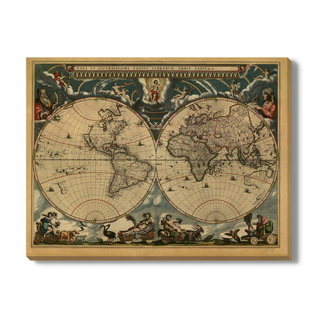 Kaart van de Wereld // 1664