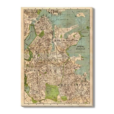 geïndexeerde Kaart van Boston