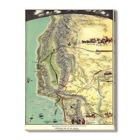 Historische Kaart van Los Angeles // 1929