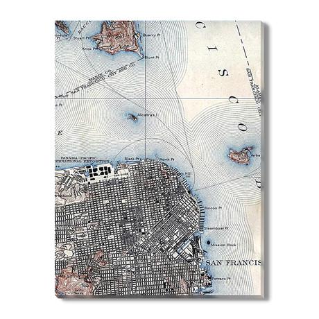Kaart van San Francisco // 1915