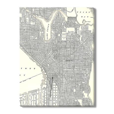 Kaart van Seattle // 1911