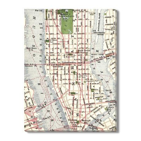 Kaart van New York // 1916