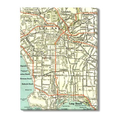 Kaart van Los Angeles // 1939