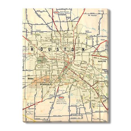 Kaart van Houston