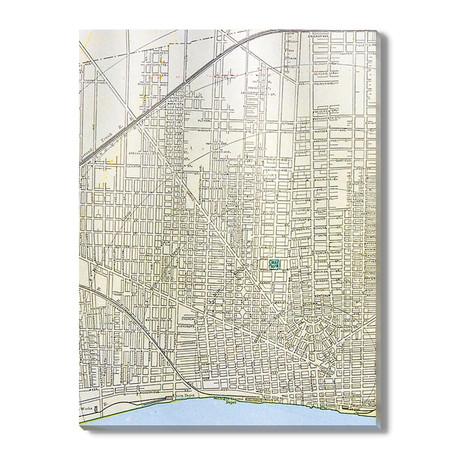 Kaart van Detroit