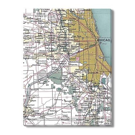 Kaart van Chicago
