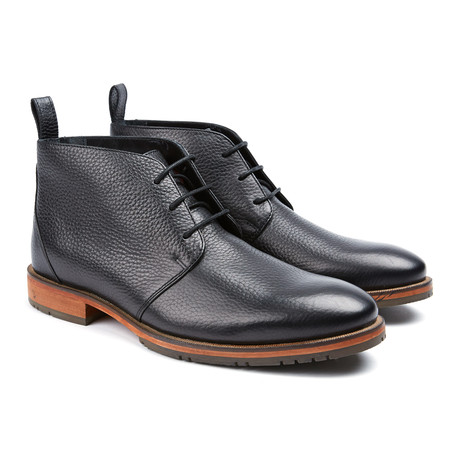 Squire Plain Toe Boot // Black