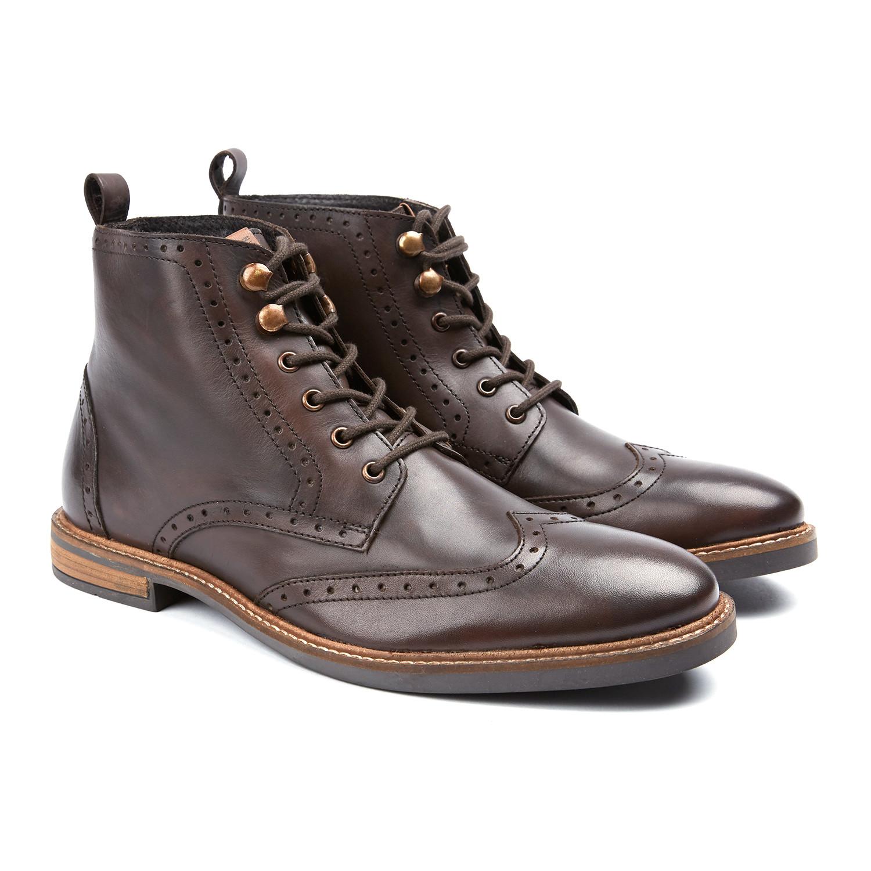 Brent Wingtip Oxford Boot // Cognac (US