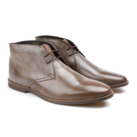 Gabe Plain Toe Oxford Boot // Dark Brown