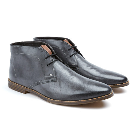 Gabe Plain Toe Oxford Laars // Black