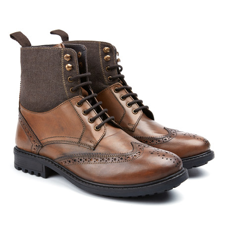 Dudley Wingtip Boot // Cognac