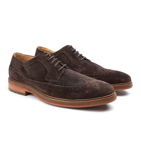 Max Wingtip Oxford // Chocolade Suede