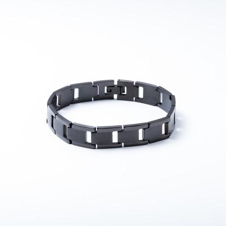 Fiets Link Bracelet // Black Ion