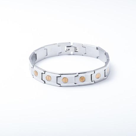Link Bracelet // 18K Vergulde Accenten