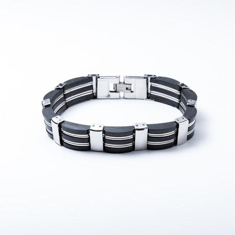 Link Bracelet // Roestvrij staal + Rubber