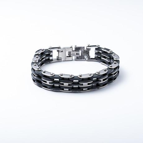 Fiets Link Bracelet // Black + RVS