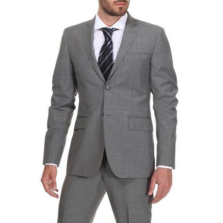 Slim Classic Suit // Light Grey Stripe