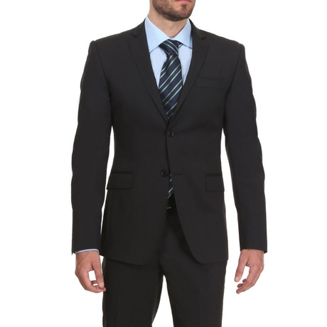 Slim Classic Suit // Black Shadow