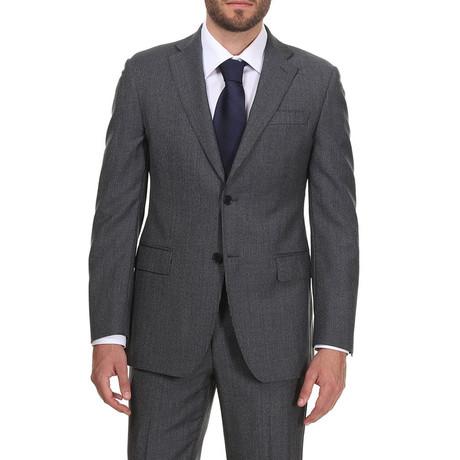 Classic Suit // Grijs + Dark Blue Pattern