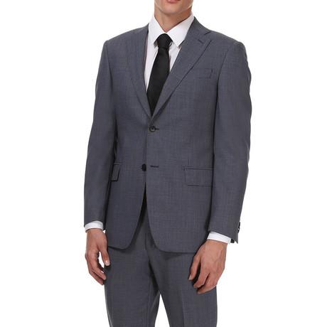 Classic Suit // Black + Lichtblauw Patroon