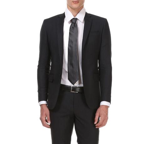 Slim Classic Suit // Black Stripe