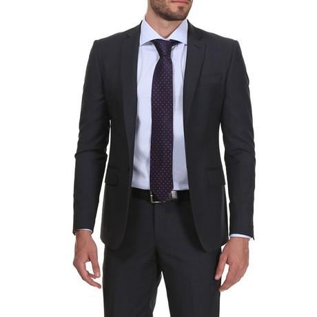 Slim Classic Suit // Donkergrijs Krijtstreep